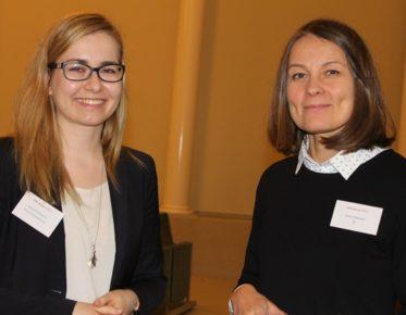 STY:n puheenjohtaja Johanna Flythström ja EK:n IPR-asiantuntija Riikka Tähtivuori