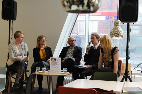 Sanna Nyqvist, Lotta Sonninen, Jarkko Tontti, Juha Pihlajaniemi ja Laura Gustafsson (kuva: Soile Manninen)