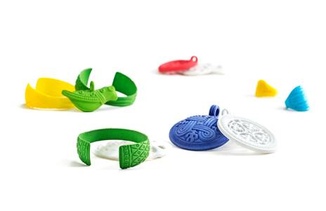 The Finnish e-market place Launzer.com and Kalevala Jewelry launched a 3D printed jewelry collection in January 2015. (Photo: Launzer.com)