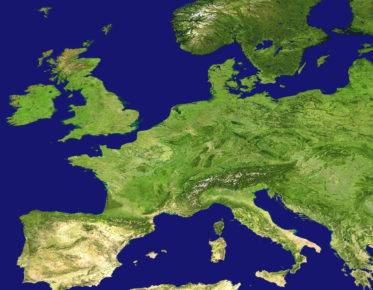 airphoto of Europe