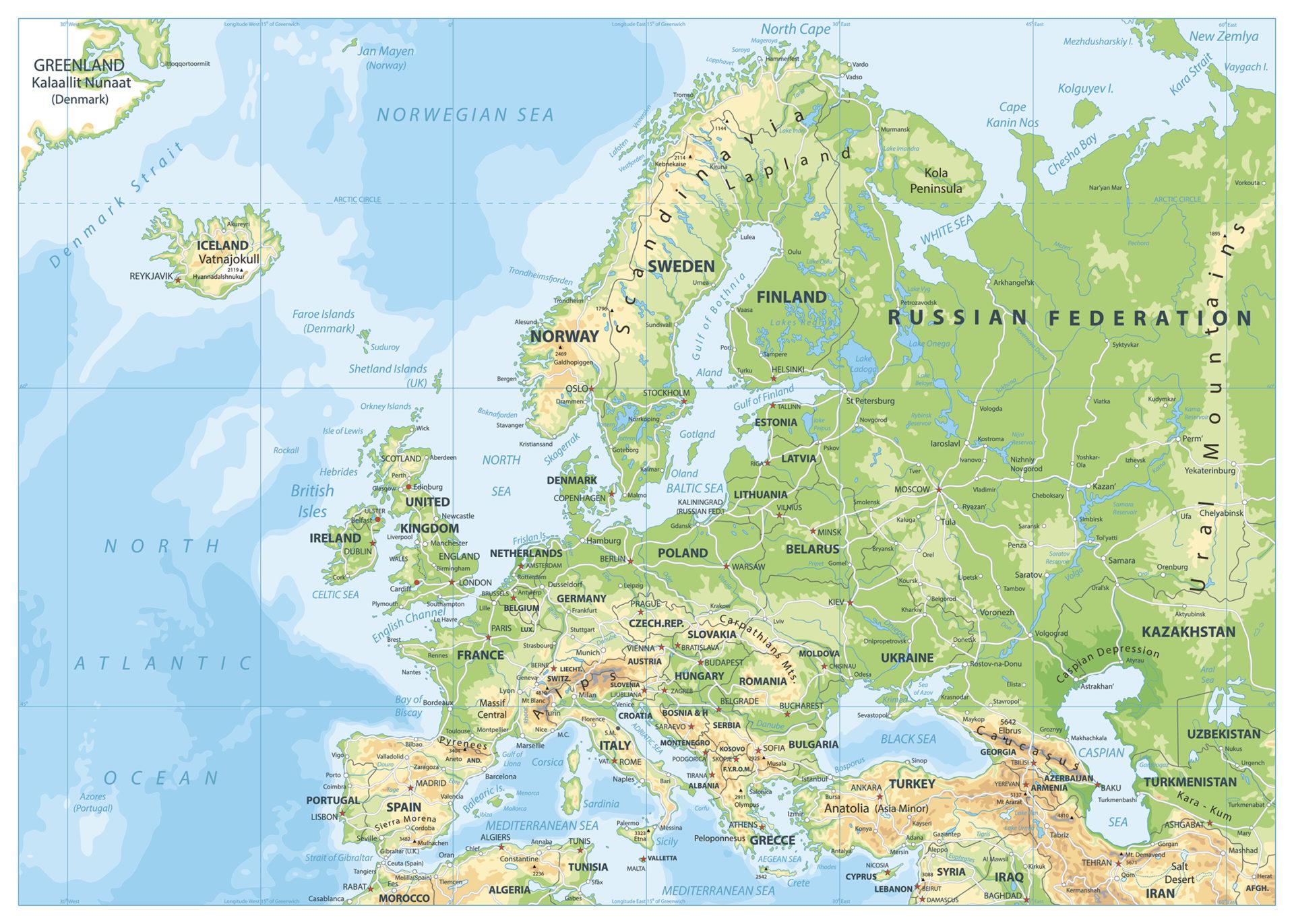 Euroopan kartta